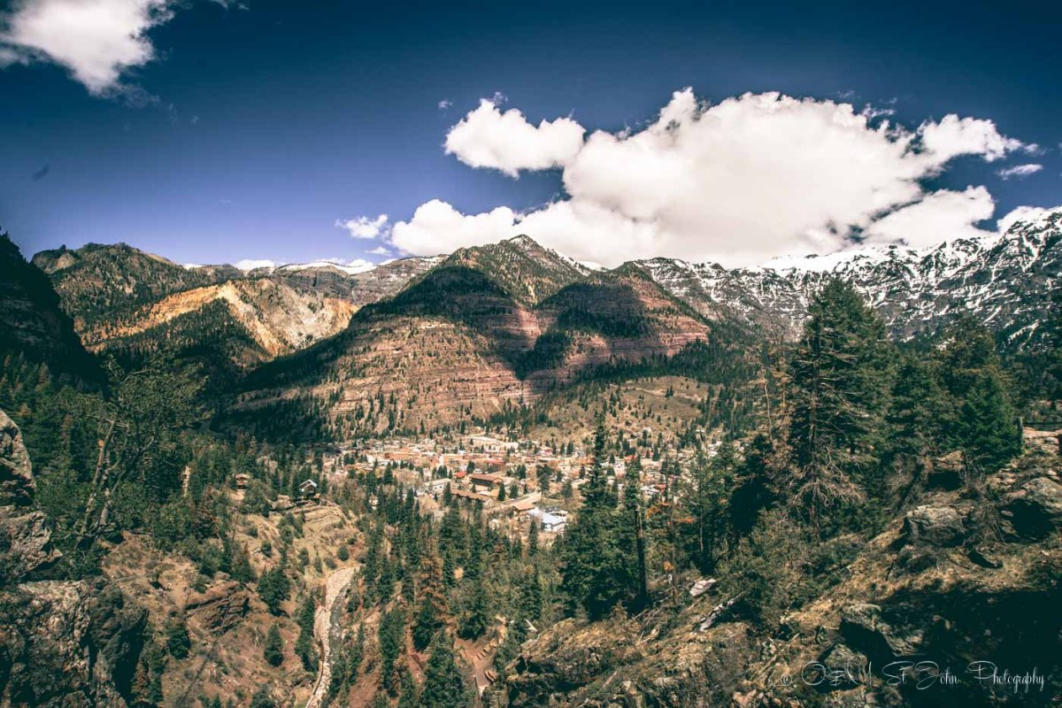 Ouray, view from above. Colorado. USA