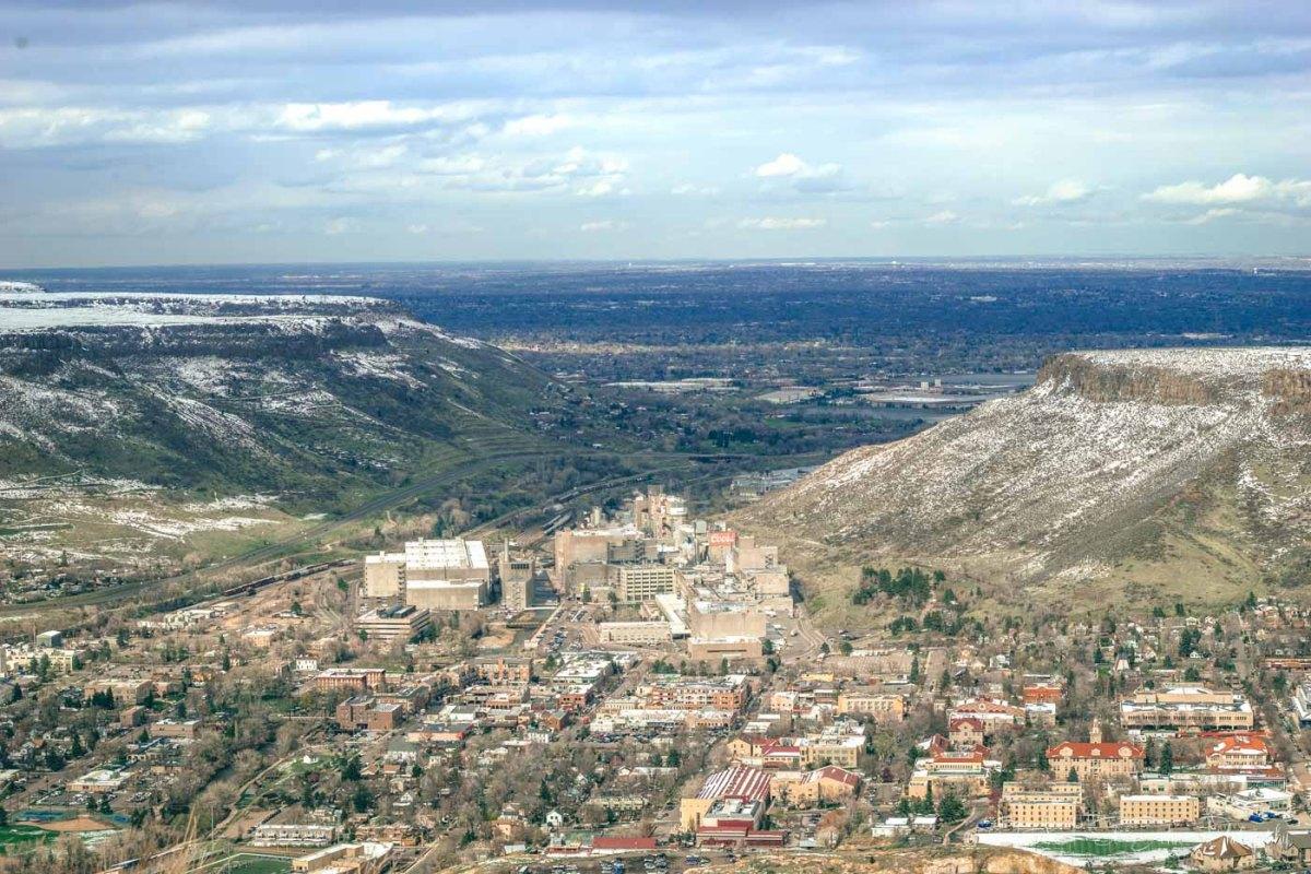 Colorado road trip: Denver, Colorado from above