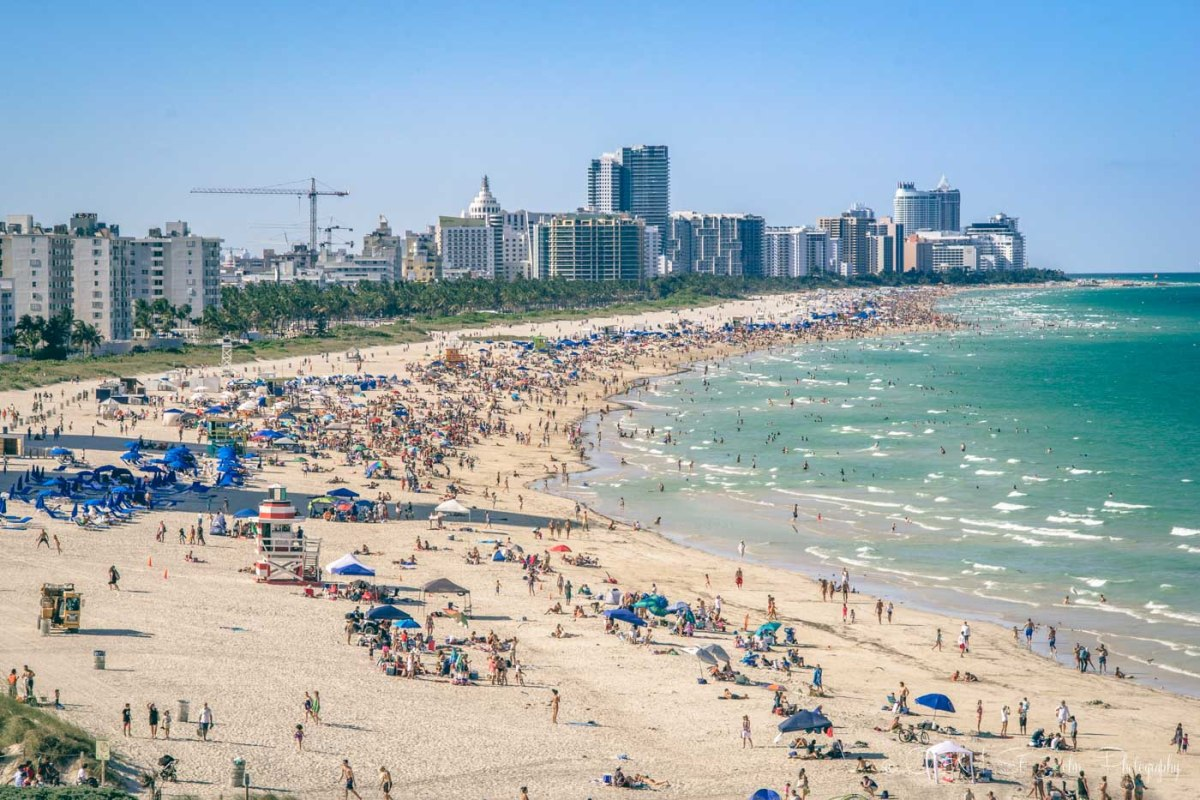 Busy day in Miami Beach, Florida. USA