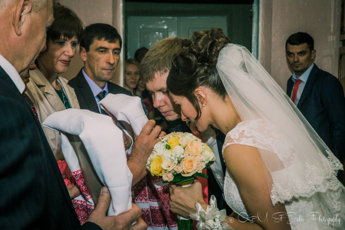 Blahoslovenja (Blessings) ritual at Ukrainian wedding tradition