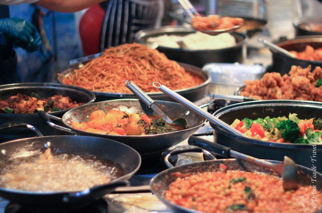 Food stall in Camden Lock Market, Camden Town, London