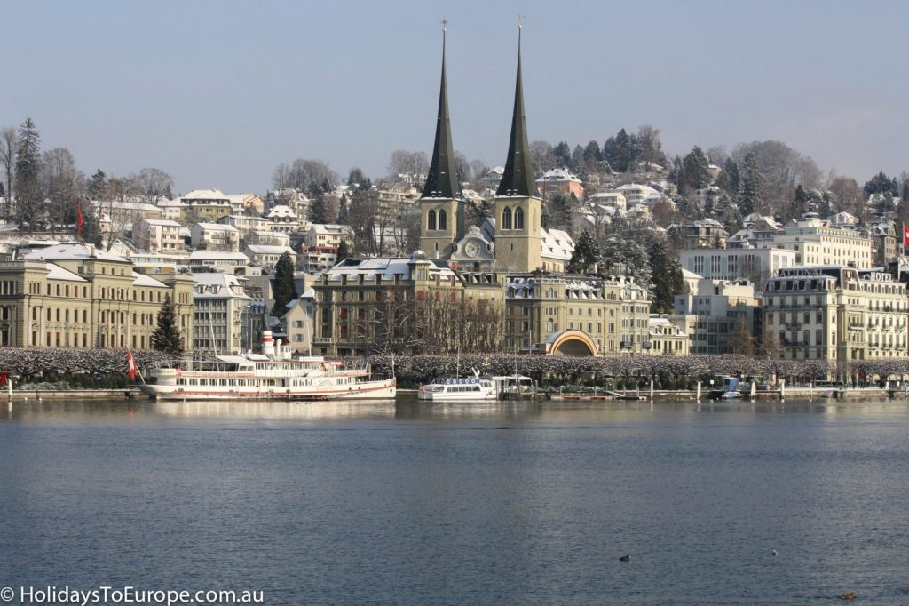 Lucerne, Switzerland at Christmas,