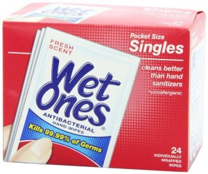 Road Trip Accessories: Wet Wipes