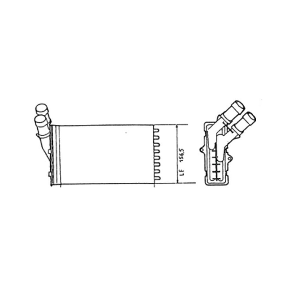 Radiateur de chauffage pour Citroen Xsara 1.8 de 07/1997 à