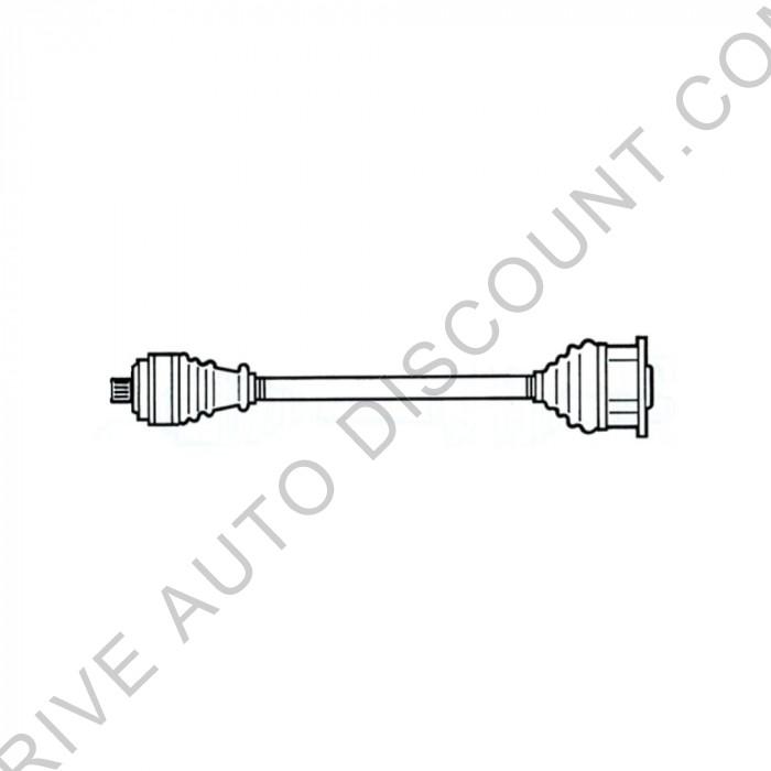 Cardan, transmission avant droit, passager Audi A4 2,5 AFB