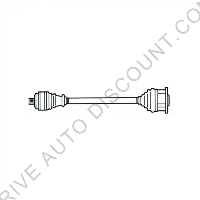 Cardan, transmission avant droit, passager Audi A4 2,6 ABC