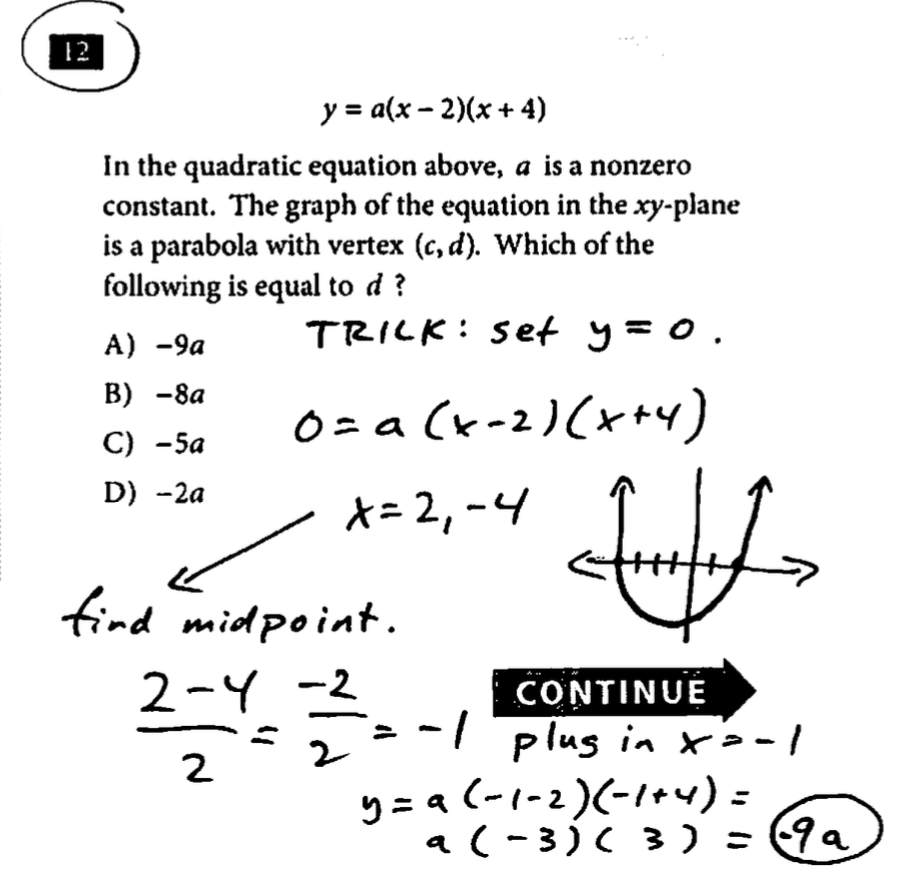 SAT Question of the Day: Test #3, Sec 3 Math NC #12