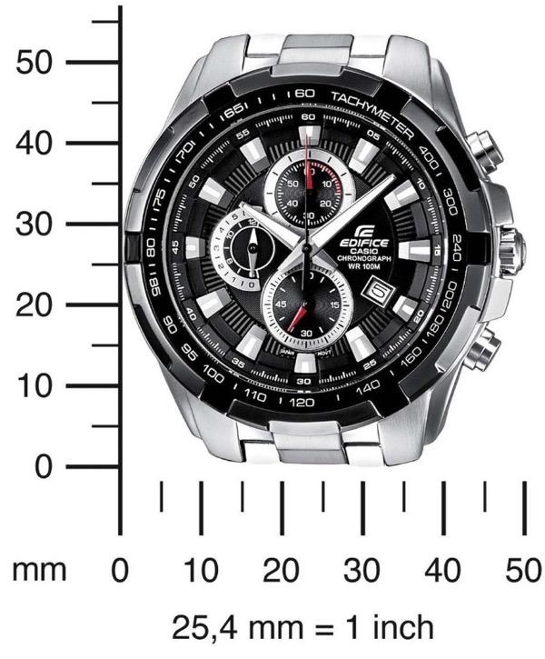 CASIO EDIFICE EF-539D-1AVEF Mens/Gents Chronograph Watch