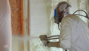 person doing insulation
