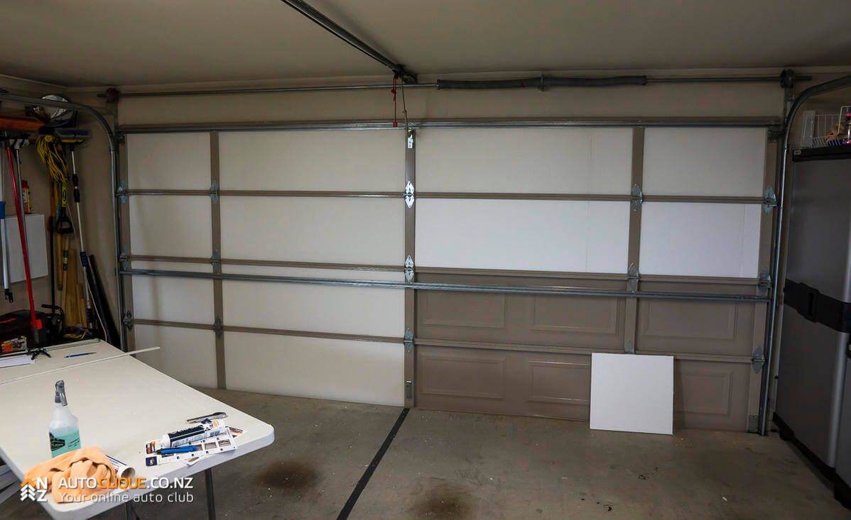 hight resolution of expol garage door insulation kit install review