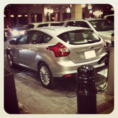 2014 Ford Focus EV charging at Sheraton Centre