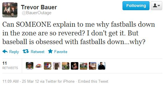 Trevor Bauer Tweet - Fly Balls Rule