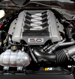 the 5 litre v8 engine of the ford mustang gt coupe [ 2000 x 1285 Pixel ]