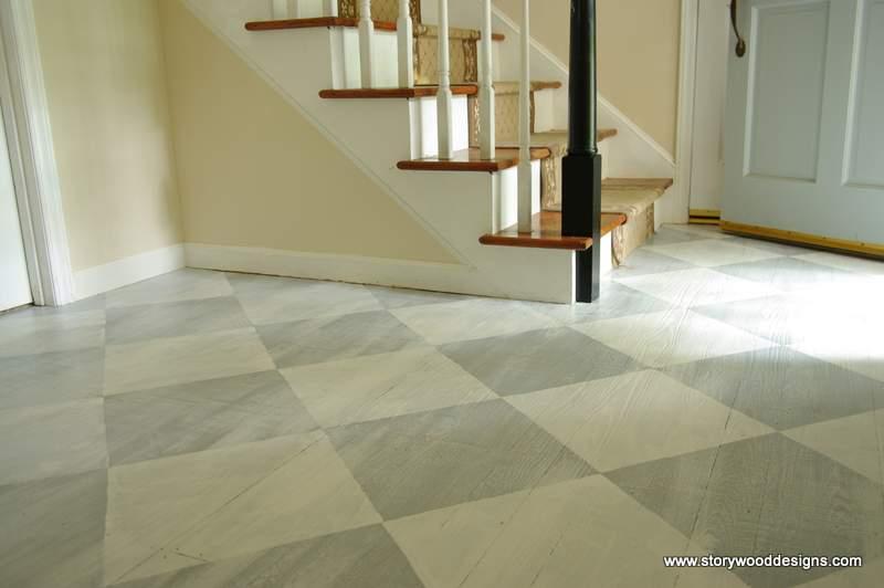 using annie sloan chalk paint on floors