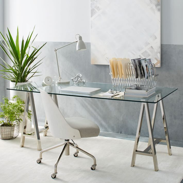 The Perfect Glass Top Desk for Our Home Office  Driven by