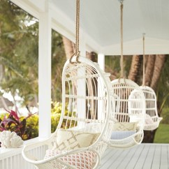 Hanging Wicker Chair And Stool Set Favorite Rattan Swing Chairs Driven By Decor Porch Lined With So Dreamy