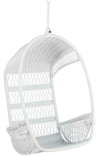 Hanging Wicker Chair White