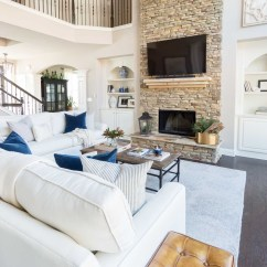How To Decorate Living Room With Tv Over Fireplace Canvas Pictures For Mounting Your A Design Inspiration Driven By Decor Love The Way They Mounted This Two Story Look Like