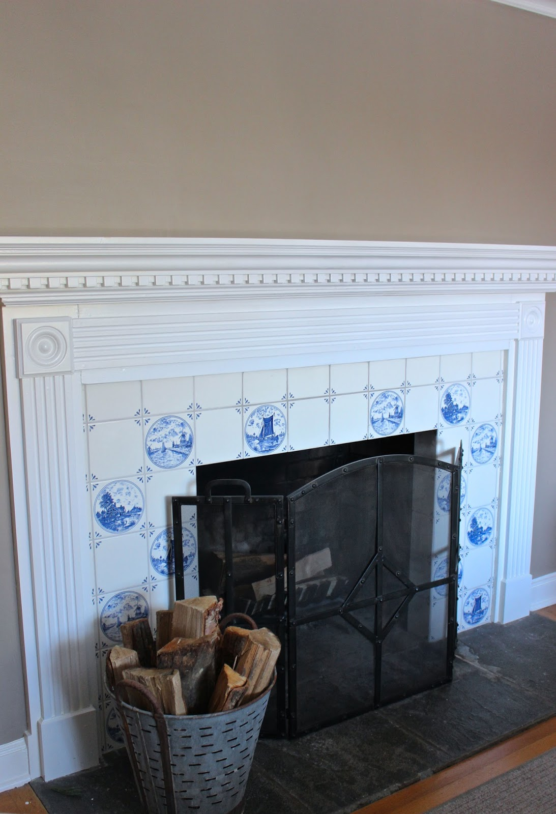 My Blue  White Fireplace Tile  Should it Stay or Go  Driven by Decor