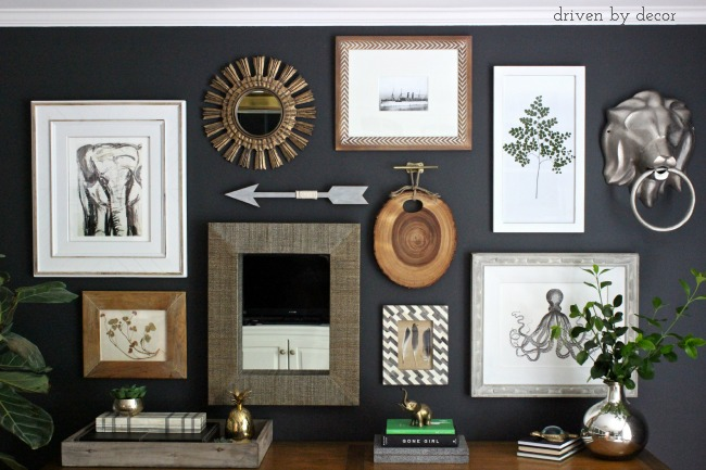 Home Decor Spring Tour Living Room Gallery Wall