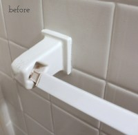 How To Replace a Towel Bar With Fixed Ceramic Ends ...