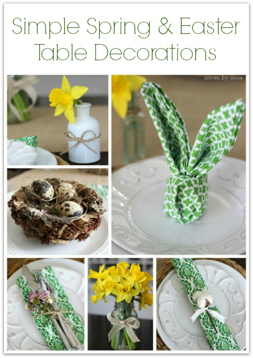 Simple Spring Easter Table Decorations Driven By Decor