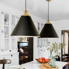Hanging Kitchen Lights Over Island Small Sink Cone Pendants: New Lighting For Our Kitchen! | Driven By Decor