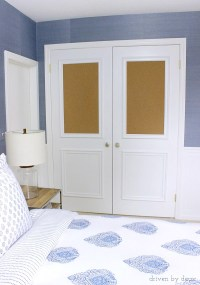 Cork Board Closet Doors: Boring, Flat Doors No More