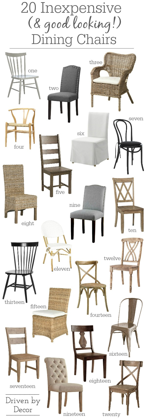 inexpensive upholstered dining chairs chair back covers classroom 20 (that don't look cheap!) | driven by decor