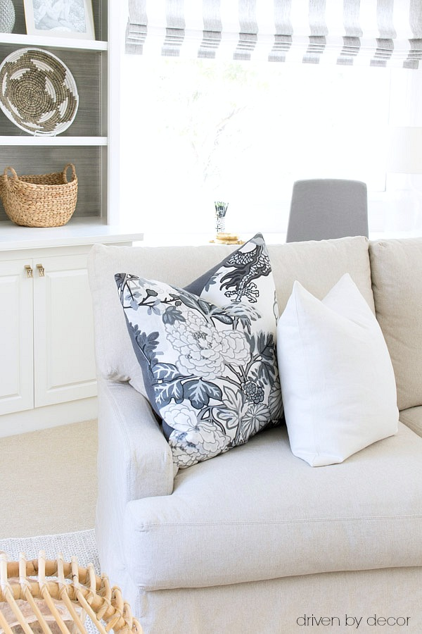 throw pillows for living room couch contemporary set 101 how to choose arrange driven by decor great tips on a good insert size your