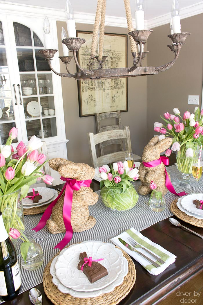 Setting a Simple Easter Table With Decorations You Can Snag at the Grocery Store  Driven by