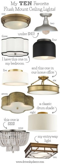 Best Flush Mount Ceiling Lighting - My 10 Faves From ...