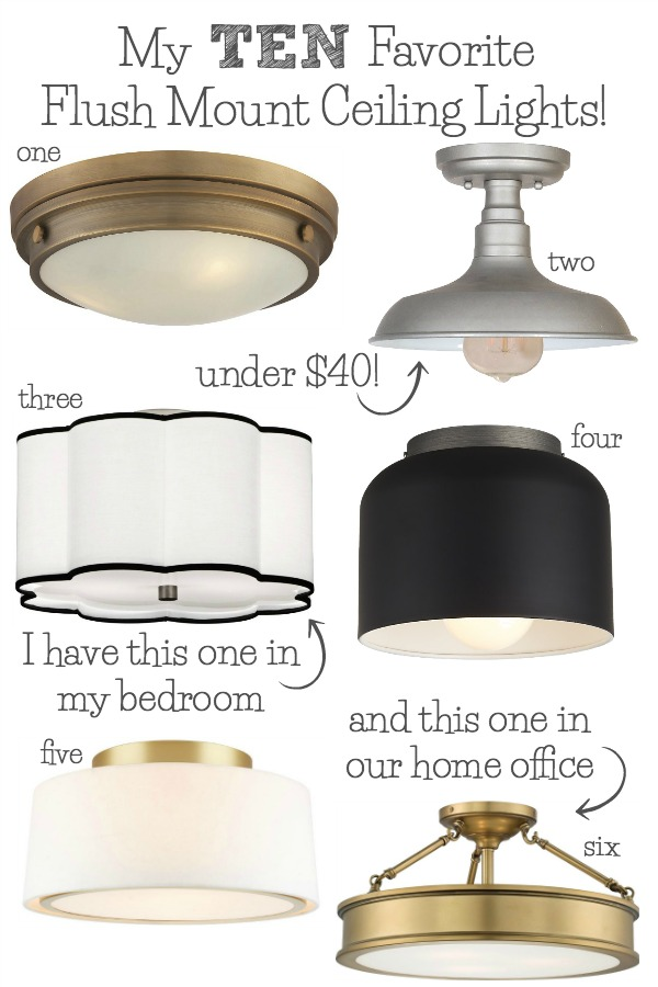 inexpensive kitchen decor copper lighting best flush mount ceiling - my 10 faves from ...