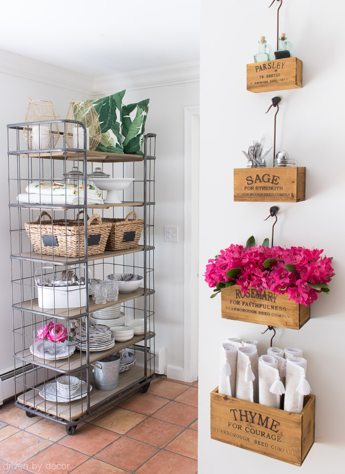 decorating with baker s racks the best