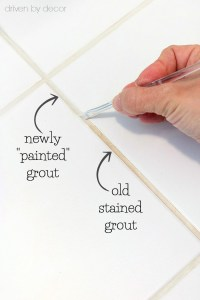 The Secret to Getting Stained Tile Grout White Again ...