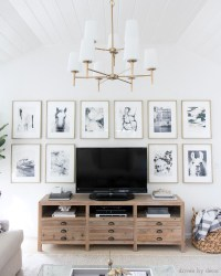 How to Decorate Above the TV: A Simple Solution | Driven ...