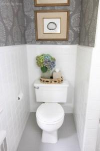 How I Painted Our Bathroom's Ceramic Tile Floors: A Simple ...
