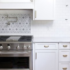 Tile Kitchen Amish Cabinets White Subway With Gray Grout My Favorite Grays Driven By Decor Light Was Perfect This Mosaic Accent