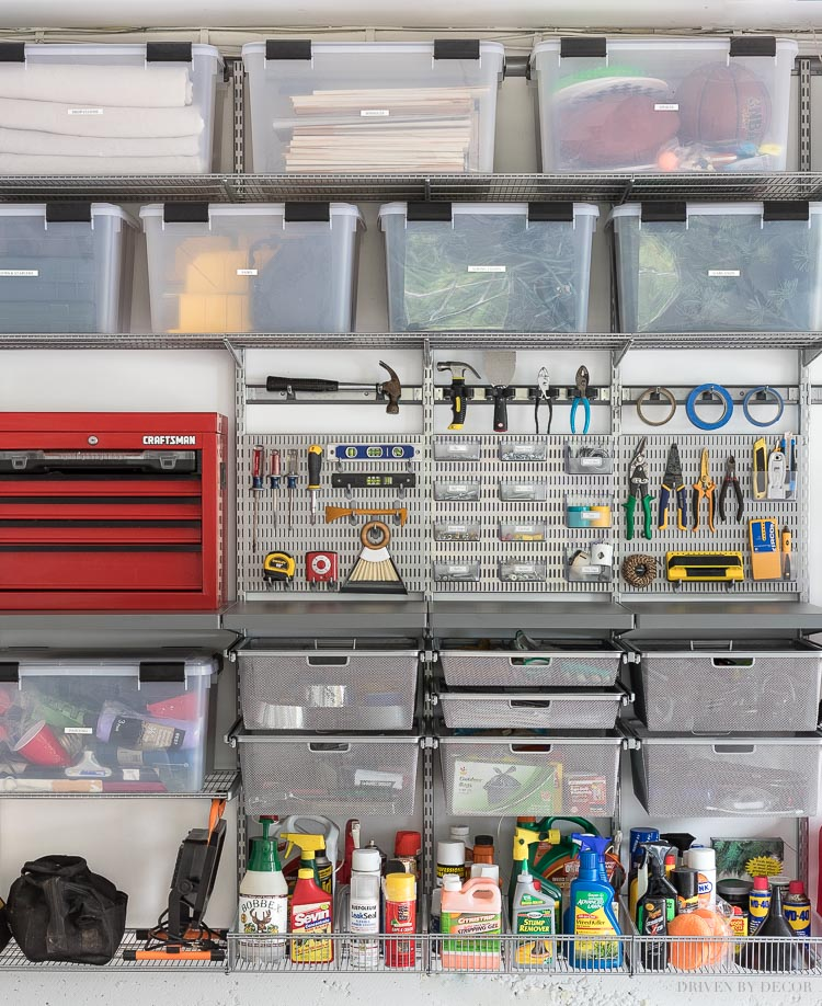 Garage Organization Tackling Our Crazy Mess With Elfa