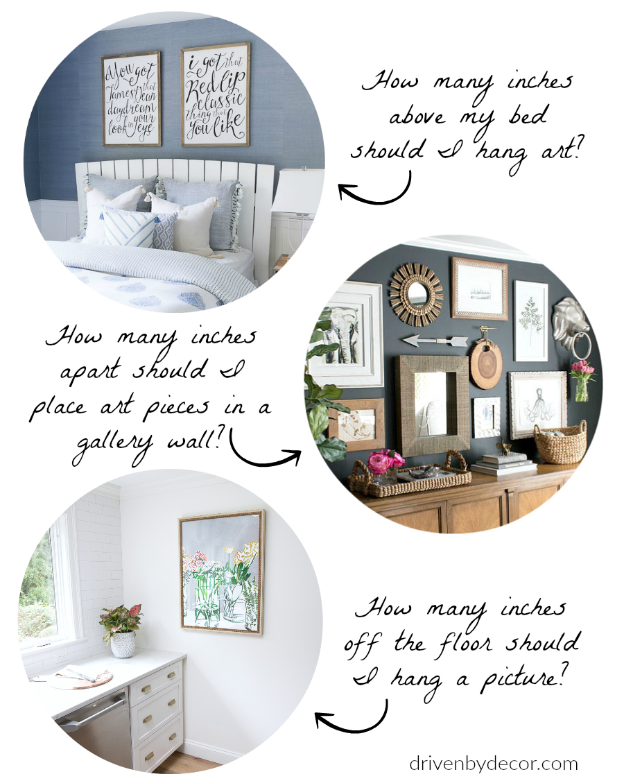 How High To Hang Pictures Simple Tips For Getting It Right Driven By Decor