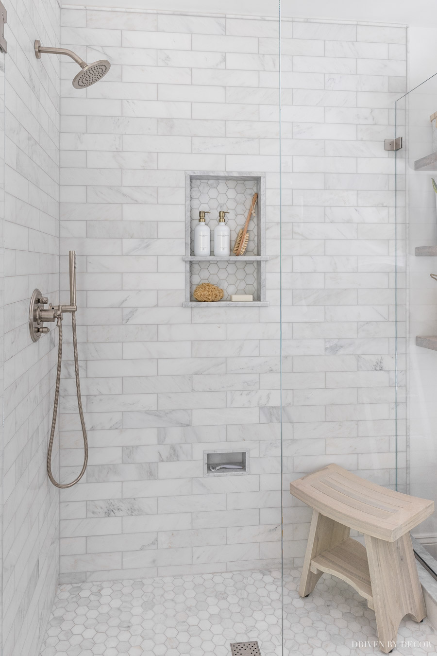 our master bathroom reveal driven