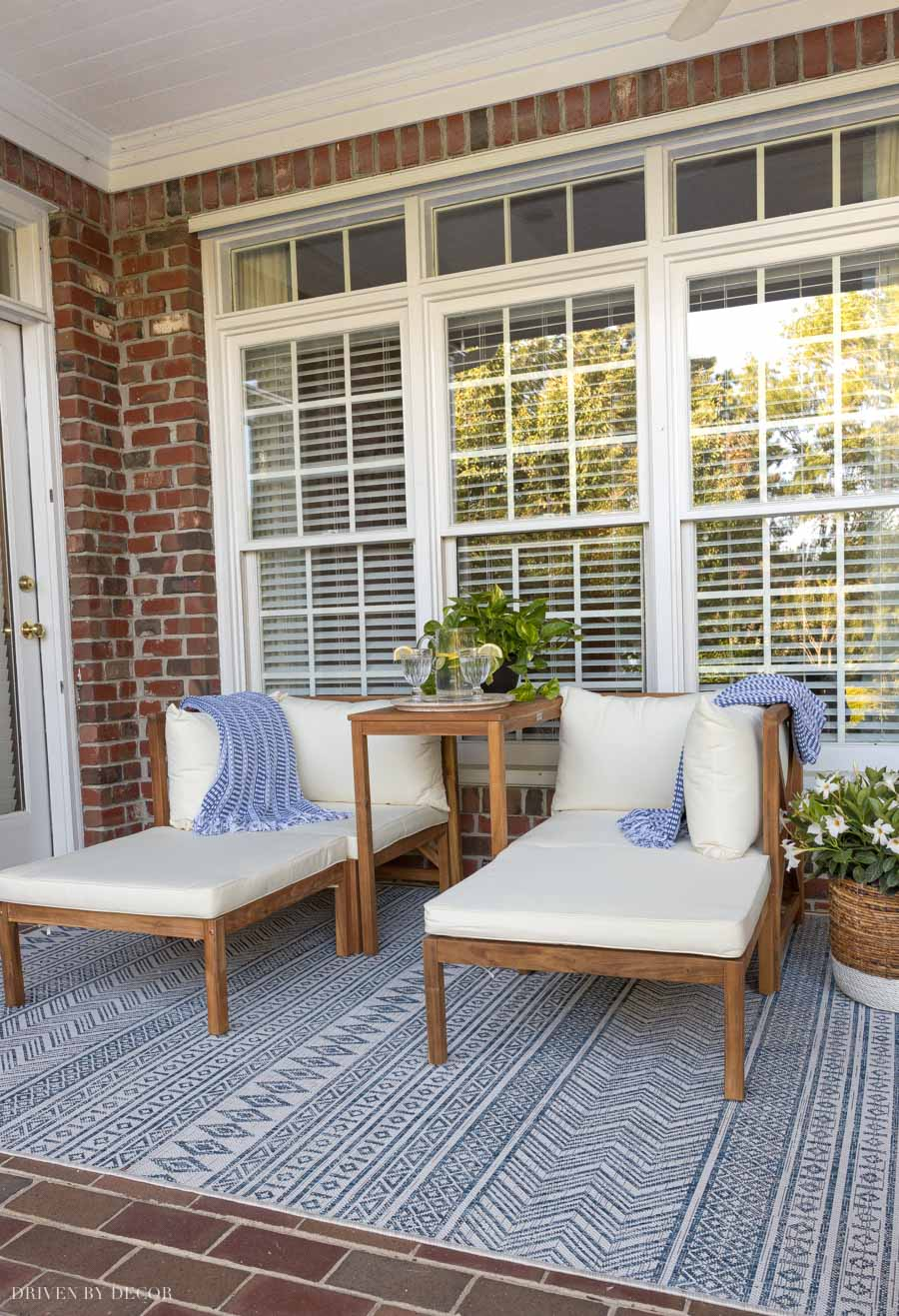 five simple outdoor decorating ideas
