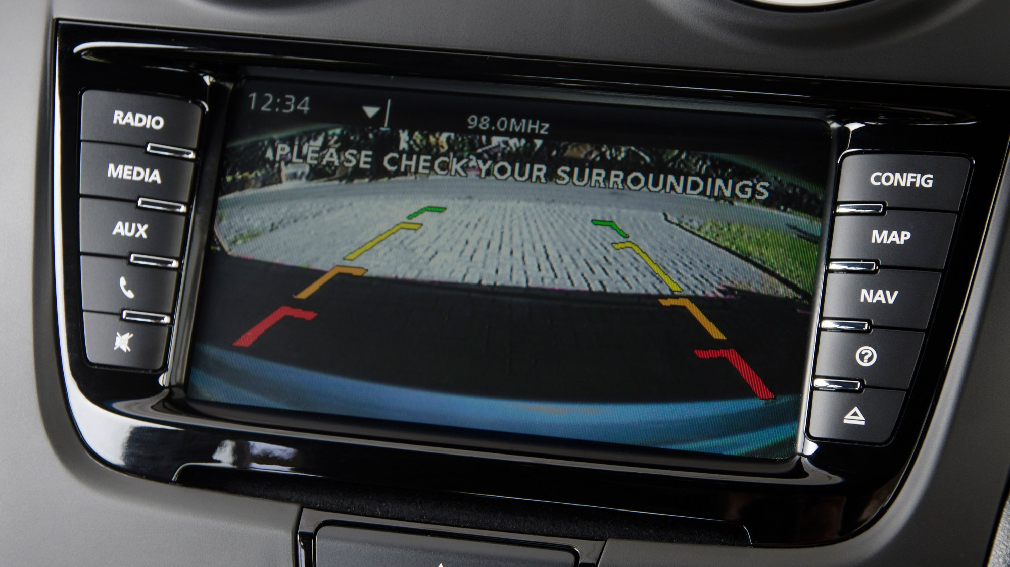 hight resolution of the touchscreen interface includes the reverse camera allowing you to easily see where you