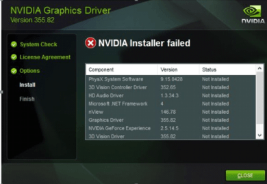 Nvidia Driver Windows 10 Failed To Install