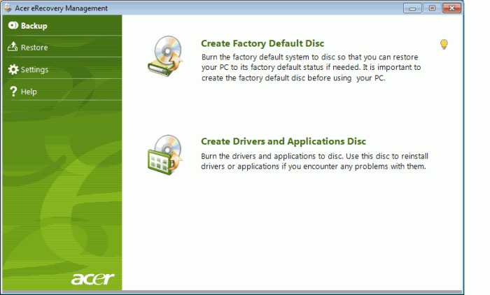 ACER_ERECOVERY