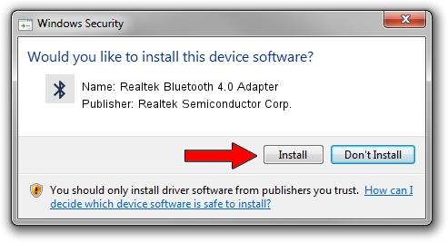 Realtek bluetooth 4 0 adapter драйвер windows 10