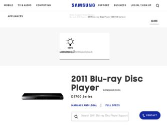 Samsung BD-D5700 Driver and Firmware Downloads