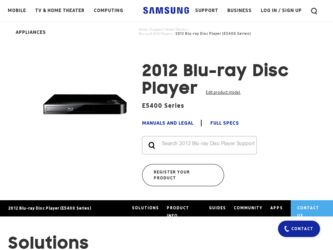 Samsung BD-E5400 Driver and Firmware Downloads
