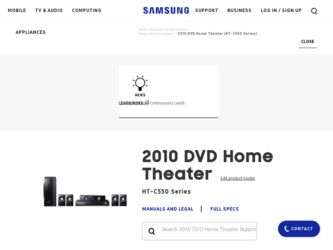 Samsung HT-C550 Driver and Firmware Downloads