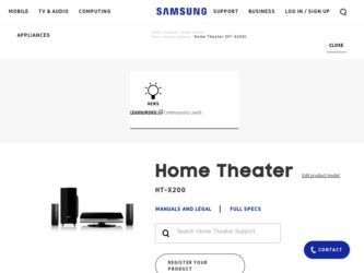 Samsung HT-X200 Driver and Firmware Downloads